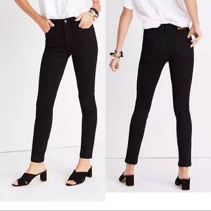 Madewell Stay Black Jeans Mid-Rise Skinny ISKO